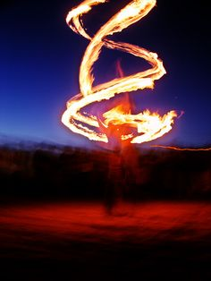 Fire Dancer on the Beach