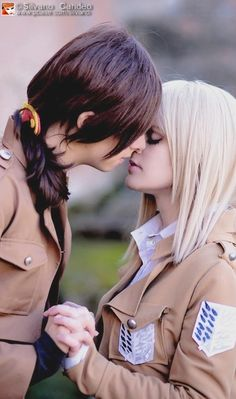 Ymir And Christa, Aot Cosplay, Mikasa, Alien Girl, Attack On Titan Ships, Lesbian Love, Levi Ackerman, Cute Anime Character, You And I