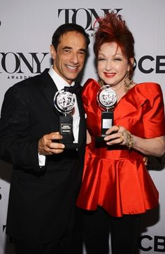 Hal Luftig and Cyndi Lauper attend The Annual Tony Awards at Radio City Music Hall in New York City. Kinky Boots Musical, Radio City Music Hall, Cyndi Lauper, Musicals, Awards, Tony Award, York, Fashion, Moda