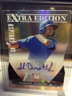 SHAWON DUNSTON JR  2011 DONRUSS ELITE #152 AUTOGRAPH SP # 76/100