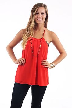 Fountain Of Youth Tank, red $39 www.themintjulepboutique.com