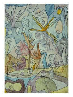 """Klee - """"Flock of Birds""""  (I love this.)"""