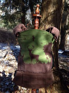 Natibaby Forest Brown/Green (Customized by CRANBERRY CREEK KIDS) Tula Baby Carrier