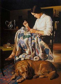 stilllifequickheart: Ian Hornak Marcia Sewing Variation III 1978