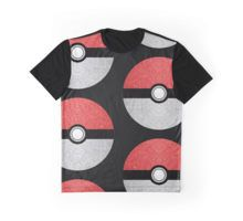 Sparkly red and silver sparkles poke ball on dark gray Graphic T-Shirt #PLdesign #PokemonGO #pokemon #sparkles #SparklesGift