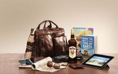 Exotic Outdoor Travel Box - Perfect for the adventurous at heart – spoil someone special with this decadent African travel combination. Add a bottle of delicious Amarula Cream to spice up the adventure and complete your selection with an outdoor travel magazine that will tantalize any traveller. Visit www.amarula.com/gifts to get inspired!