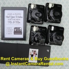We rent Polaroids/Fujifilm Instax Cameras and instant cameras for weddings and other events. Photo Guest Book, Guest Book Sign, Guest Books, Wedding Guest Book, Diy Wedding, Wedding Photos, Polaroid Pictures, Polaroids, Polaroid Ideas