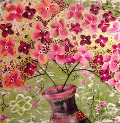 Spring  Acryl op doek 40/40