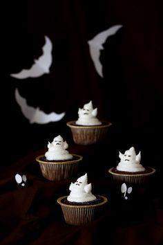 Cupcakes fantasma para Halloween