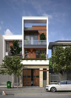 18 Ideas Exterior Design Modern Shop For 2019 House Front Design, Small House Design, Modern House Design, Modern Shop, Style At Home, Modern Architecture House, Architecture Design, Narrow House Designs, Townhouse Designs