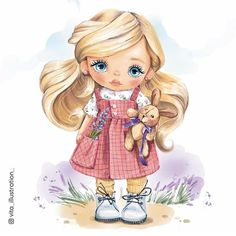 Cute Images, Cute Pictures, Cartoon Crazy, Digital Art Anime, Baby Illustration, Cartoons Love, Pretty Drawings, Baby Art, Stuffed Animal Patterns