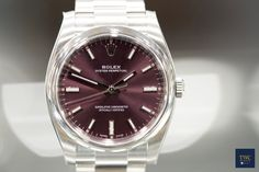 Rolex Oyster Perpetual 34 Red Grape/Steel 34mm ref.no.: 114200 (Purple)