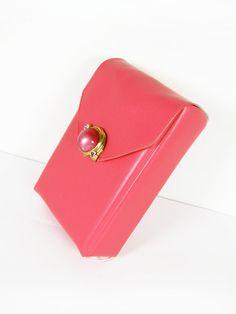 Vintage Pink Vinyl Cigarette Case Retro Marilyn  Le by MyChouchou, $36.00