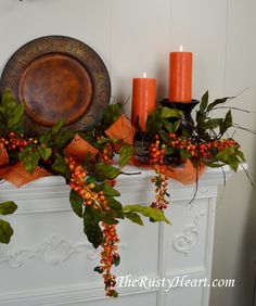 Etsy :: Your place to buy and sell all things handmade Fall Lanterns, Autumn Decorating, Decorating Ideas, Fall Arrangements, Fall Projects, Fall Table, Fall Home Decor, Fall Harvest, A 17