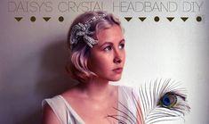 For Luz Ma's wedding event ~ Three Glamorous DIY Gatsby-Inspired Headbands Look Gatsby, Gatsby Style, 1920s Style, Gatsby Headband, Diy Headband, Gatsby Hair, Gatsby Headpiece, Headband Tutorial, Great Gatsby Party