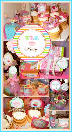 Tea Party printable party. All you need to have a wonderful birthday party.. $15.00, via Etsy.