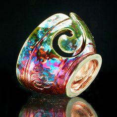 Ayaka Yarn Bowl Raku Pottery YB13124 by CHpottery on Etsy, $38.00