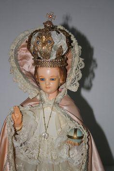 Antique Infant Jesus of Prague Statue Broken Hand by MoxieAntiques, $685.00
