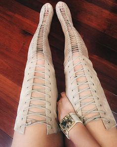 4a9024da002e Aliexpress.com   Buy 2015 best selling summer long boots thigh high lace up  peep toe suede leather sandal boots plus size free shipping from Reliable  boots ...