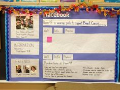 I made my own Facebook bulletin board after seeing one on Pinterest!  -WLC