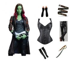 """""""Fantastic Guardians OF The Galaxy 2 Gamora Jacket"""" by moviesjacket ❤ liked on Polyvore featuring Marvel Comics, shopping, jacket, starwars, Costume and fashionset"""