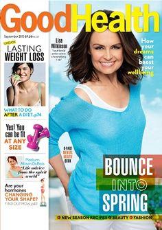 Good Health #magazines #September #2015 #Spring #Lisa Wilkinson