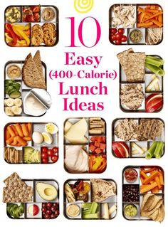 10 Quick and Easy Lunch Ideas Under 400 Calories 2019 10 easy ideas for high-protein high-fiber (and yummy!) packable lunches that are all 400 calories or less. The post 10 Quick and Easy Lunch Ideas Under 400 Calories 2019 appeared first on Lunch Diy. Healthy Lunches For Work, Healthy Meal Prep, Healthy Drinks, Healthy Snacks, Healthy Recipes, Healthy Weight, Easy Healthy Lunch Ideas, High Protein Lunch Ideas, Easy Lunches For Work