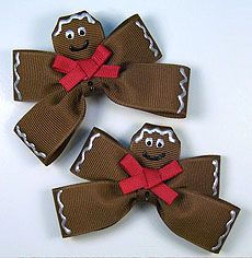 Gingerbread Bows @klfelice