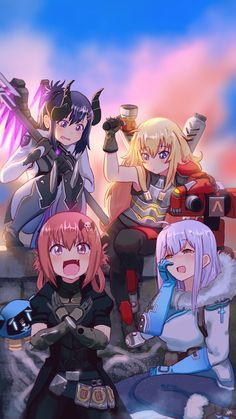 Gabriel Dropout x Overwatch // Commission by SteamyTomato on DeviantArt Manga Art, Manga Anime, Anime Art, Satania Gabriel Dropout, Anime Zone, Aho Girl, Tsurezure Children, Fanarts Anime, Anime Crossover