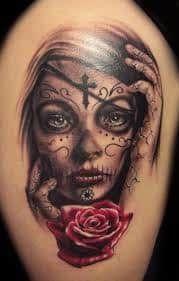 Candy Skull Tattoos 58