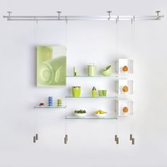 Archiexpo Suspended shelving system - CABLE - Shopkit