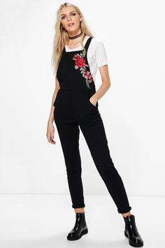 Jenny Embroidered Dungarees