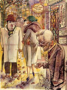 George Grosz - Berlin Streetscene (prostituta haciendo negocios)