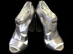 BCBG Max Azria Open-Toed High Heels - Size 5.5