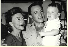 Gene Kelly with his second wife, Jeanne Coyne, and their son, Tim, in 1963.