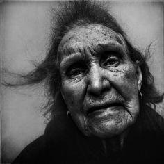 portrait of a homeless woman  lee jeffries
