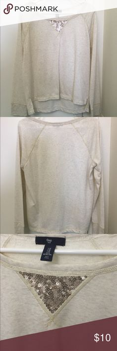 GAP Sweatshirt Barely worn, great condition with no stain. Ask me if you have any questions. The fabric described in last picture. GAP Tops Sweatshirts & Hoodies