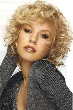 Blonde Curly Haircut for Women