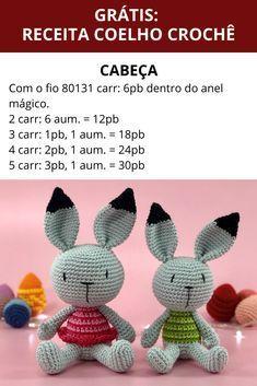 Crochet Home, Diy Crochet, Crochet Dolls, Amigurumi Patterns, Crochet Patterns, Crochet Teddy Bear Pattern, Sock Dolls, Bunny Crafts, Easter Crochet