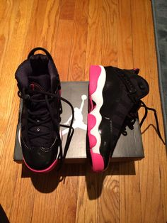 Yes, yes...the Six Rings Jordans with PINK soles...I got 'em for Christmas and can't wait to rock them!!!!