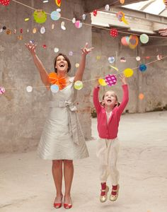 Add more cheer to your celebration with the confetti garlands from Engelpunt - easy to DIY as well