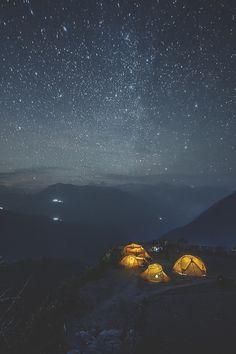 "visualechoess: ""Nepal night star  by: Alexander Forik"""