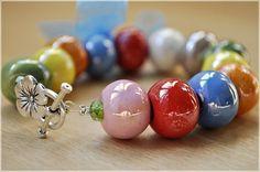 IsabelleKnits - Craft Cafe  Colorful Greek Bead Bracelet $20.00
