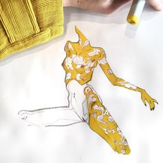 "J.A.W. Cooper (@jawcooper) ""I'm not obsessed with this yellow color, you are. #proveit #veggietattoos #copic #blackwing…"""