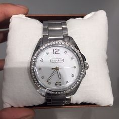Coach watch Authentic silver coach watch new with tags and box Coach Accessories Watches