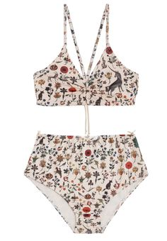 Swimwear & Beachwear for Women : Samantha Pleet Illuminated Eden Bikini Lingerie Retro, Lingerie Babydoll, Looks Chic, Looks Style, Cute Swimsuits, Women Swimsuits, Bikinis, Bikini Swimwear, Bikini 2017