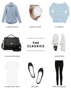 The Classics for your capsule wardrobe