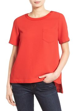 Madewell Short Sleeve Button Back Top