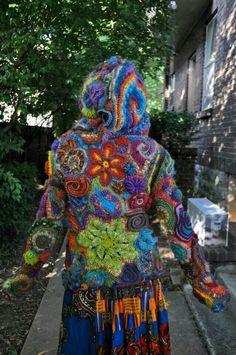 Sweter crochet free form