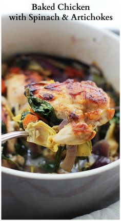 Chicken with Spinach and Artichokes - Chicken, spinach and artichokes ...
